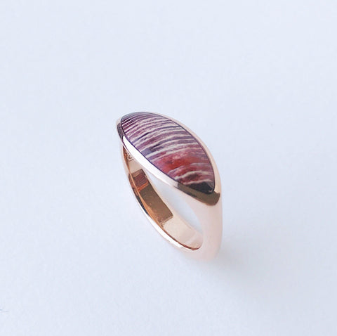 Pilar Ring in Snakeskin Jasper