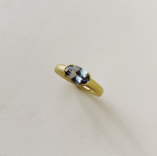 Verena Solitaire with Oval Umba Sapphire