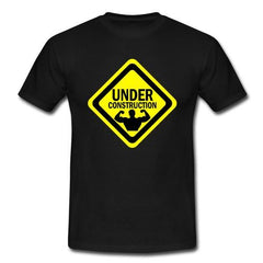 Under Construction Funny Bodybuilding Men's Unisex T-Shirt Gym Workout shirts jeans Print  Classic Quality  t-shirt Brand shirts