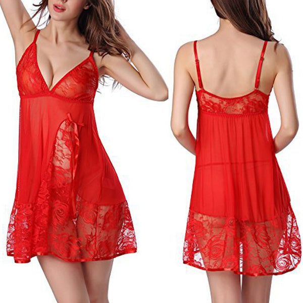 Lace Bow Night Dress