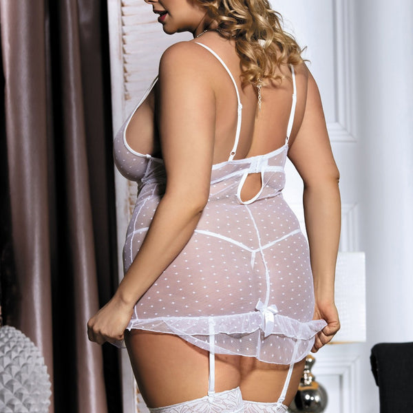 Mesh Lace Stretch Lingerie Set