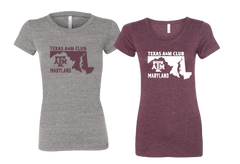 Texas A&M-Tri Blend Ladies Tee