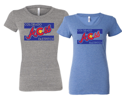 Colorado Aces Ladies Fit Tri-Blend Tee - Aces logo