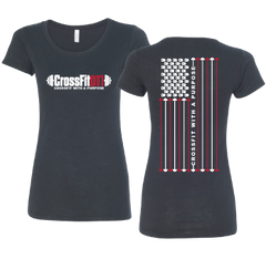 DT1 Ladies Tri-Blend Flag Tee