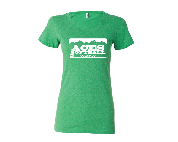 Colorado Aces Ladies Tri-Blend Tee - Licence Plate