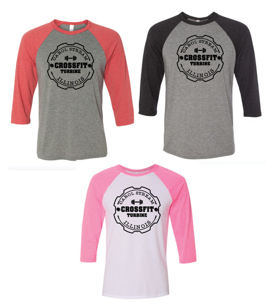 CrossFit Turbine Baseball Tee