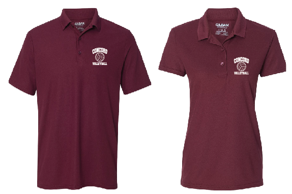 Concord Volleyball Parent Polo