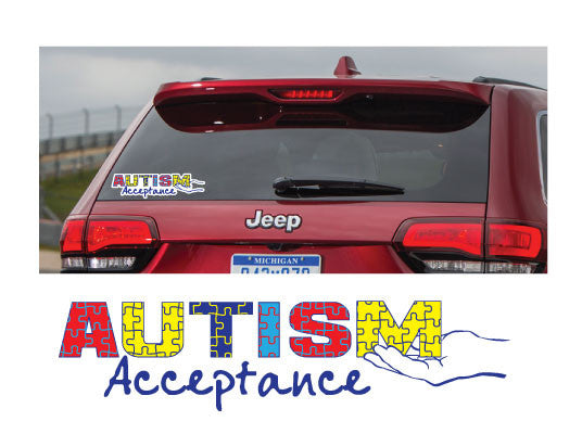 SPIN-Autism Acceptance Car Decal