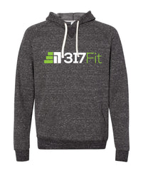 317 Snow Heather French Terry Hood Sweatshirt