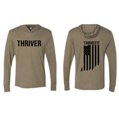 Thrive Long Sleeve Tee with Hood