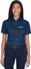PRD Ladies Short Sleeved Twill Shirt