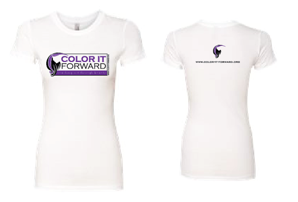Color It Forward Ladies T (White)