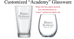 "Customized ""Academy"" Glass"