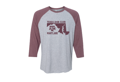 Texas A&M-Tri Baseball Tee
