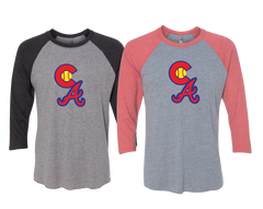 Colorado Aces Baseball Tee- CA Logo