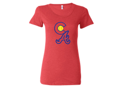 Colorado Aces Ladies Fit Tri-Blend Tee - CA logo