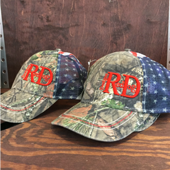Red Dog Designs Camo America Mesh Back Hat