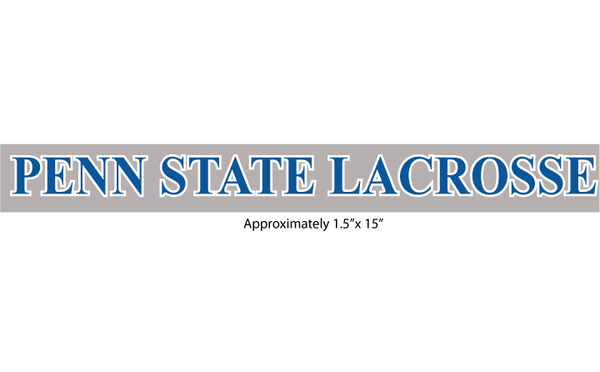 "Penn State Lacrosse Decal ""Type B"" 1.5""x15"""