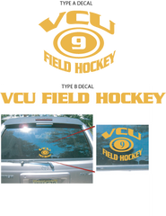 VCU Field Hockey Car Decals
