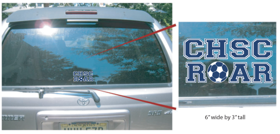 CHSC Roar Car Decals