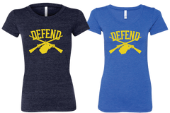 "Defend West Virginia ""State"" Tee Ladies Cut"