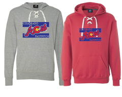 Colorado Aces Lace Up Sweatshirt - Aces logo
