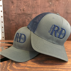 Red Dog Designs Grey/navy Mesh Back Hat
