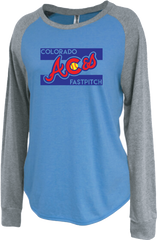 Colorado Aces Ladies Raglan Crew - Aces logo