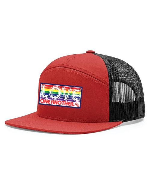 Love One Another 7 Panel Trucker