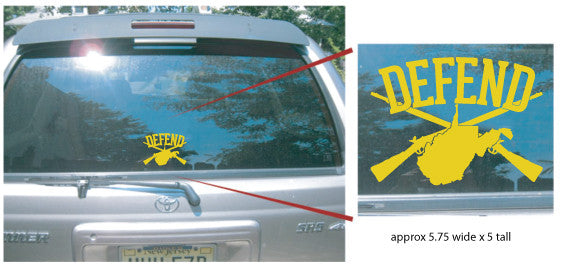 Defend West Virginia Car Decals