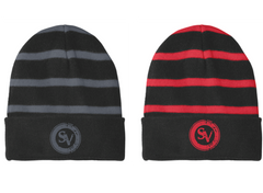 SVE Striped Beanie with Solid Band