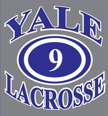 "Yale Lacrosse Decals- ""Type A""  ~5""x5"""
