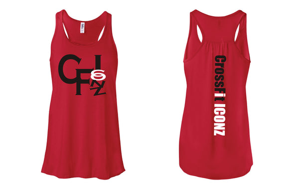 CF Iconz Red Flowy Tank
