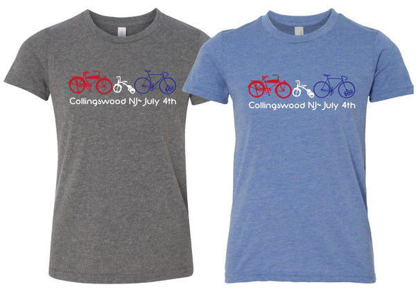 Youth 4th of July Bike Tee