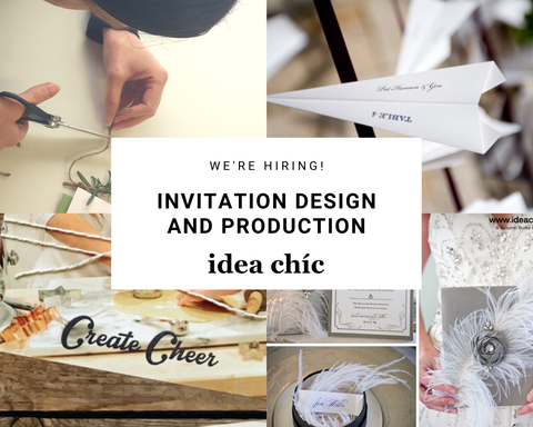 Idea Chíc is Hiring Invitation Design and Production in Denver