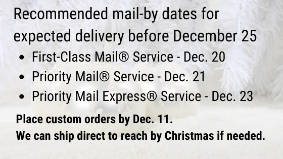 2019 Holiday Shipping Dates for Contiguous U.S.
