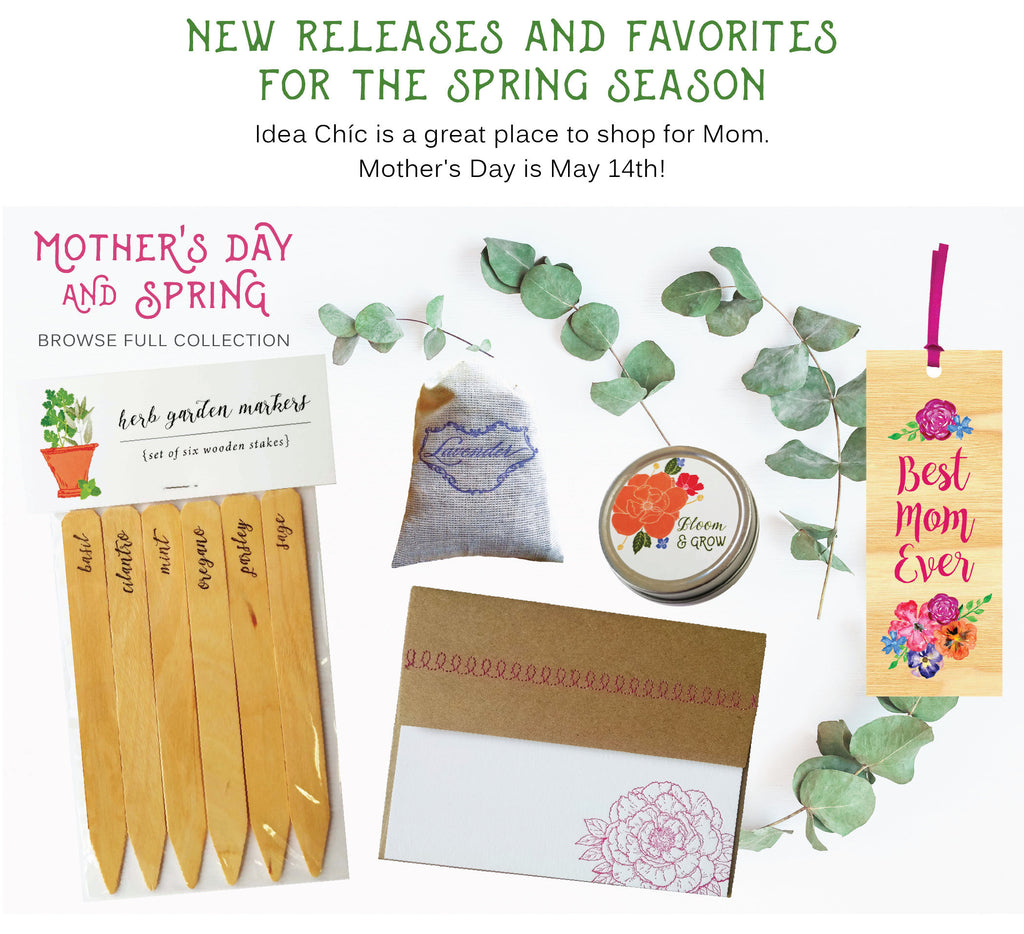 Mother's Day Gift Ideas Spring and Floral Stationery Collection