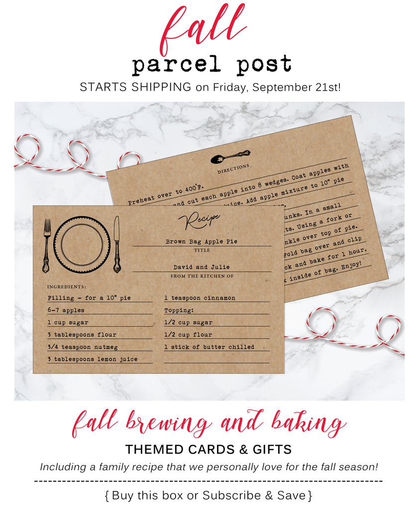 Fall Brewing and Baking Parcel Post Subscription Box