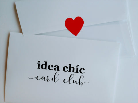 Introducing Idea Chíc Card Club