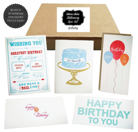Idea Chic Stationery Box of the Month of July is Birthday Cards