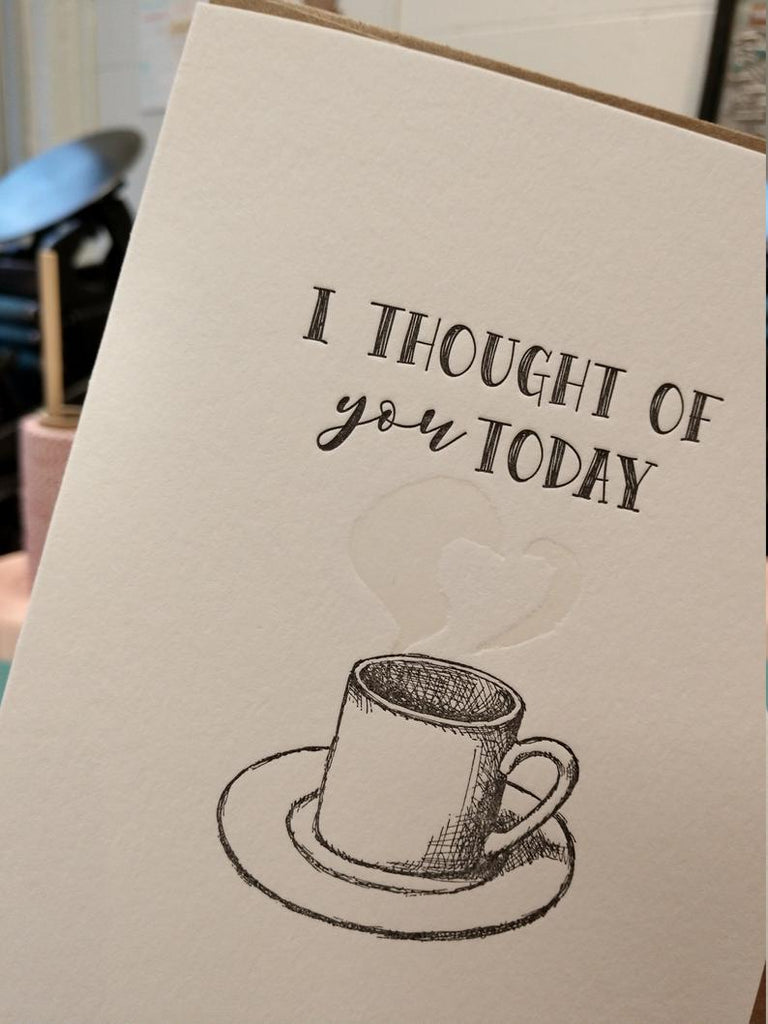 Making the ''I Thought of You Today'' Letterpress Greeting Card [video]
