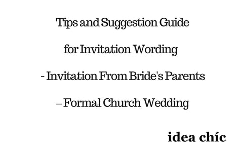wedding invitation wording tips from brides parents