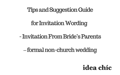 Invitation by Bride's Parents – formal non-church wedding
