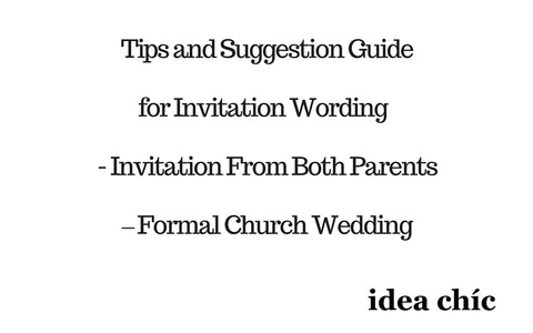 Wedding Invitation Wording Tips From Both Parents Formal