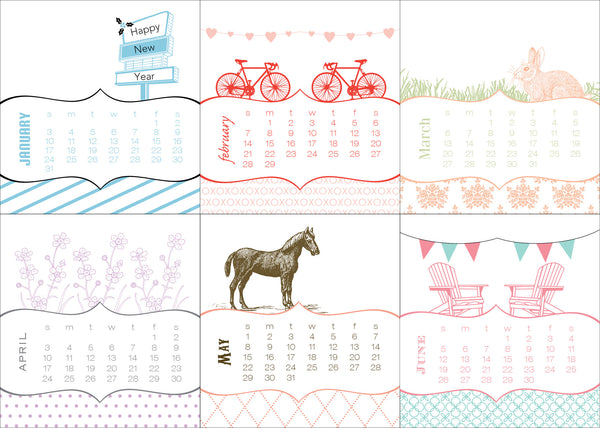2020 Mini Seasons Desk Calendar - Idea Chíc