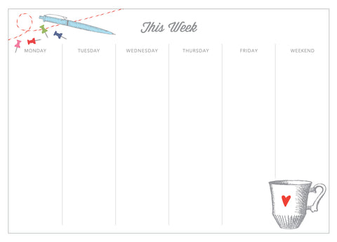 Playful Desk Weekly Planner Notepad - Idea Chíc