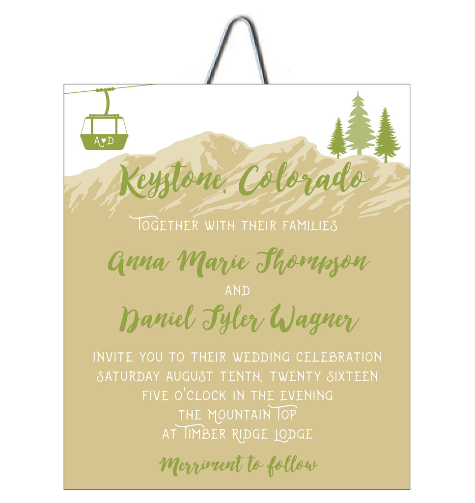 Mountain Top Lift Ticket Colorado Wedding Invitation | Idea Chíc