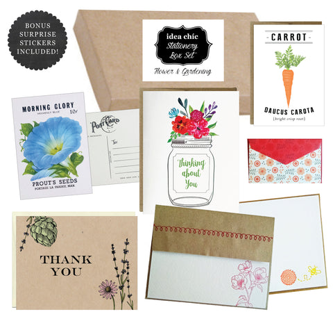 Flower and Gardening - Idea Chic Stationery Box Set - Idea Chíc