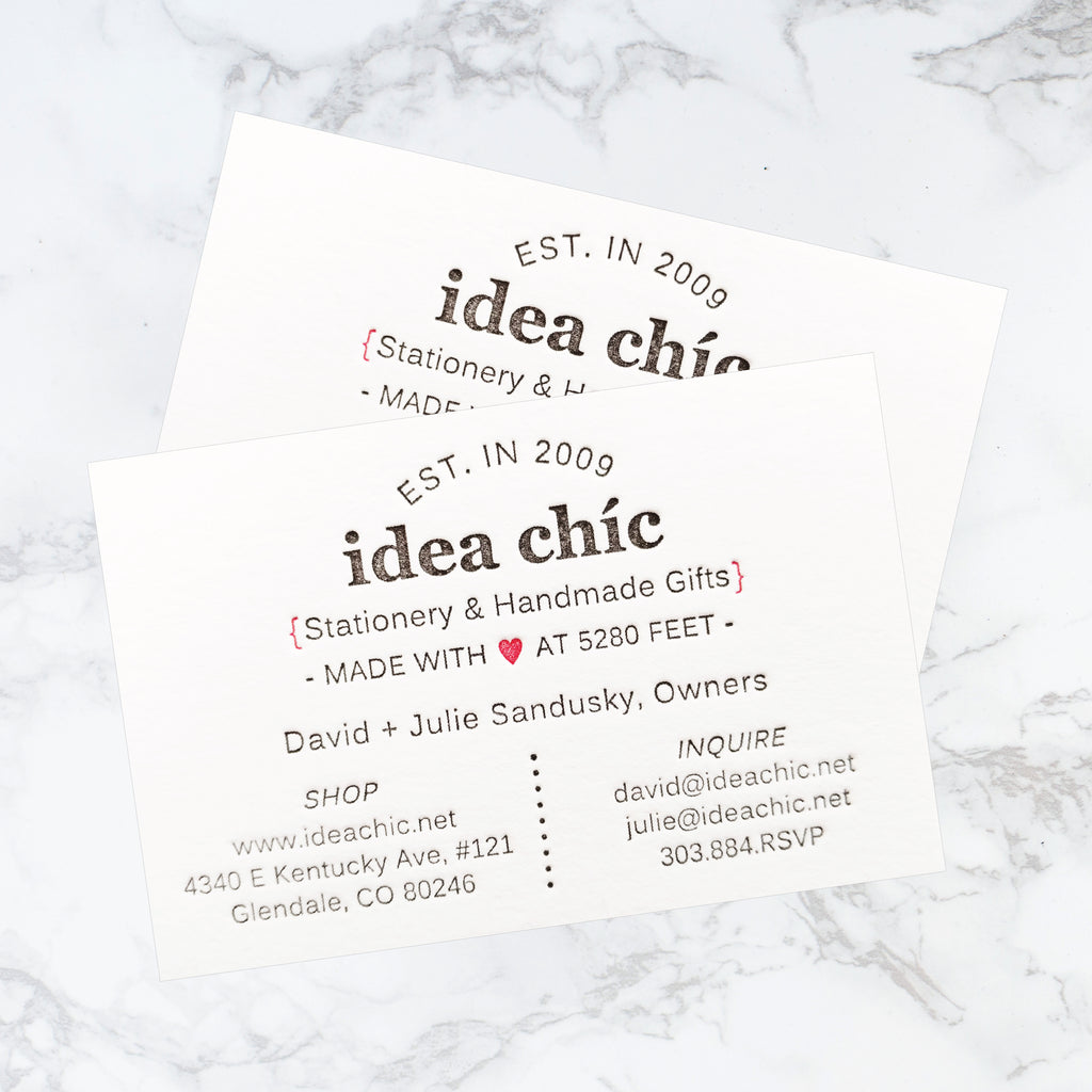 Letterpress business cards calling cards idea chc letterpress business cards calling cards idea chc reheart Choice Image