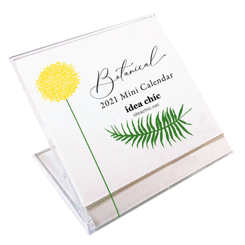 2021 Idea Chíc Botanical Mini Desk Calendar
